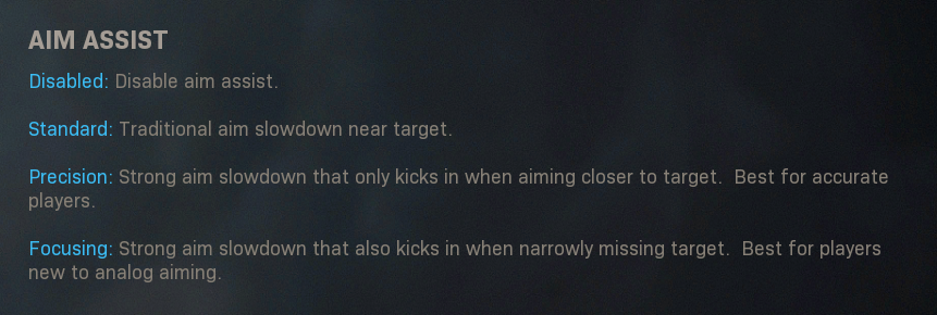aim assist settings